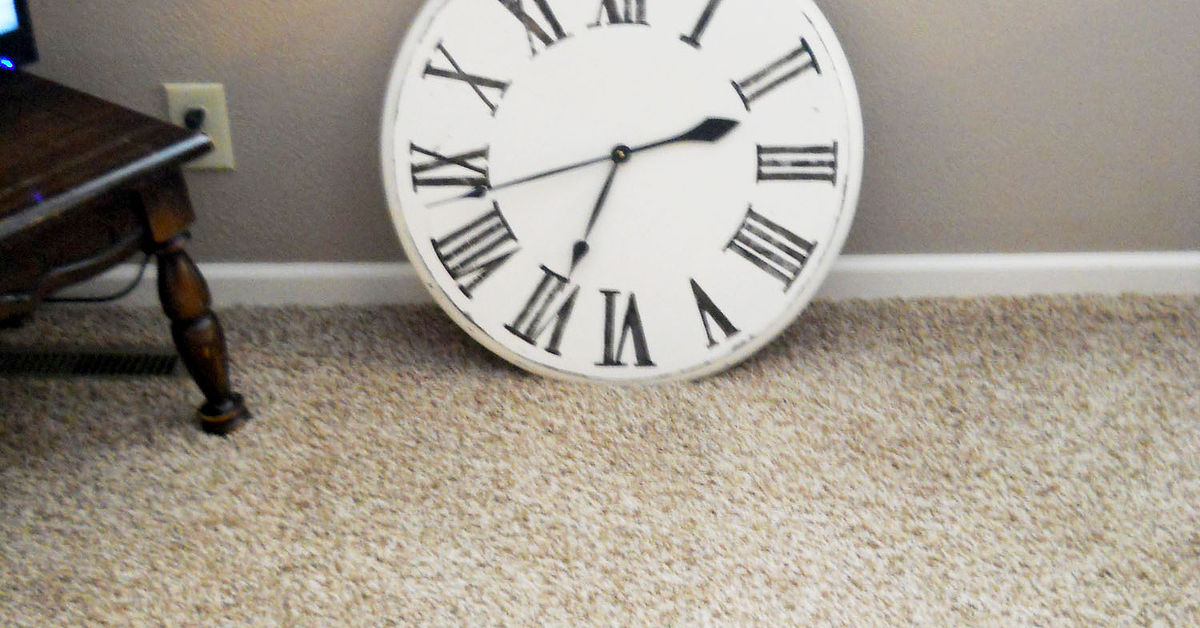 Make A Large Wall Clock From Old Side Table Hometalk