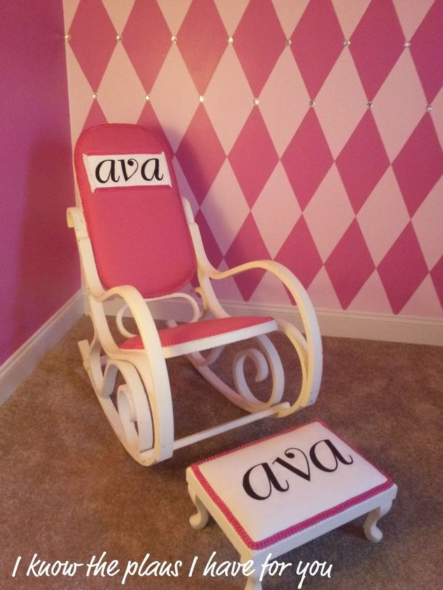 this is a rocker i made for my soon to be born cousin and her mom, home decor, painted furniture