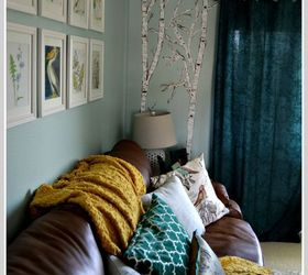 A Birch Tree Mural On Gloomy Day Hometalkrhhometalk: Paintings For Living Room With Birch Trees At Home Improvement Advice