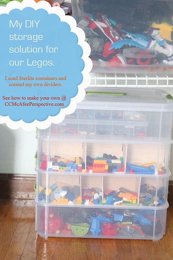 my lego organization solution with tutorial, organizing