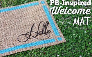 pb inspired ikea doormat makeover, crafts, flooring, outdoor living, painting