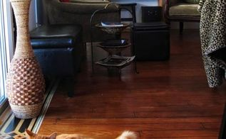 a 1964 single wide make over hand painted sub flooring, diy, flooring, home decor, painting