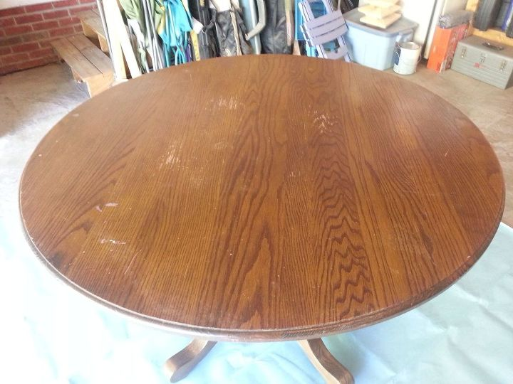 kitchen table refurbish, painted furniture