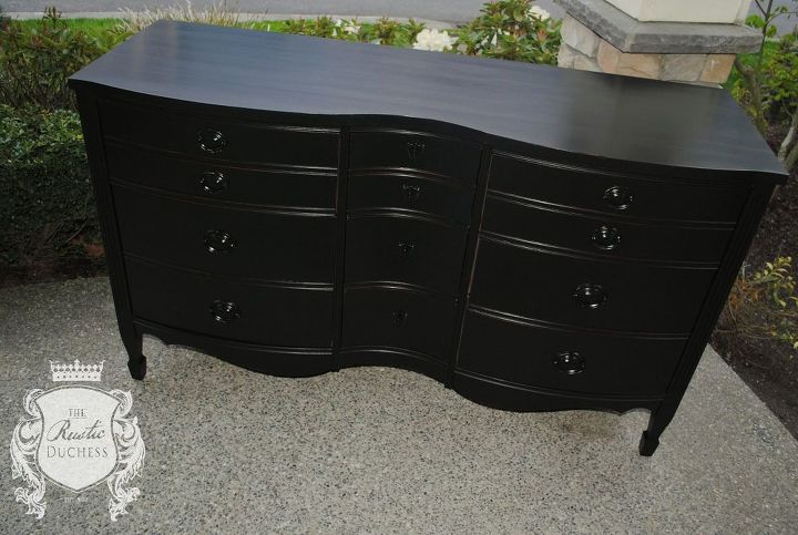 9 drawer mahogany dresser, painted furniture, rustic furniture