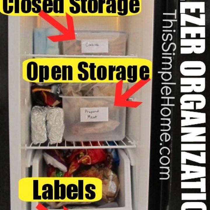 freezer organization, appliances, organizing