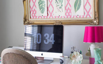 Pink Green Girly & Organized: Ultimate Home Office Craft Room Makeover