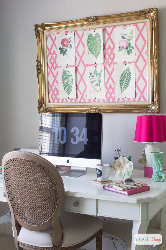pink green girly organized ultimate home office craft room maekover, craft rooms, home decor, home office, organizing