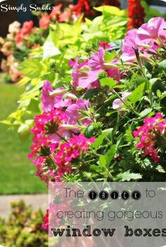 the trick to creating gorgeous window boxes, container gardening, gardening, windows