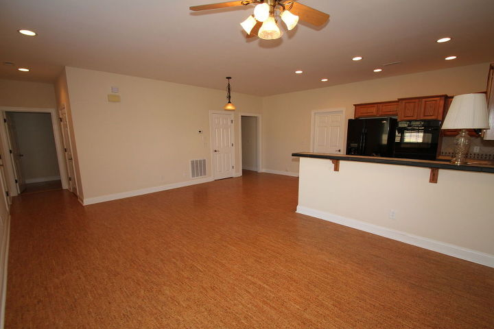 q how can i optimize this small space to make appear larger, home decor, kitchen design, living room ideas