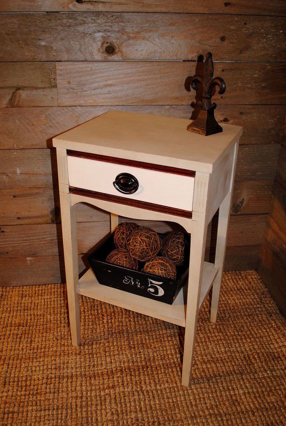 small antique side table, painted furniture, rustic furniture