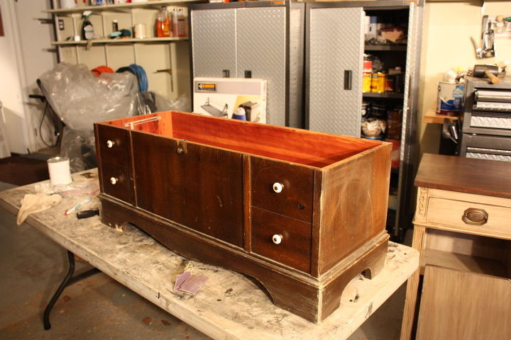 i wish i could take better pictures here s a lane cedar chest i just finished i, home decor, painted furniture