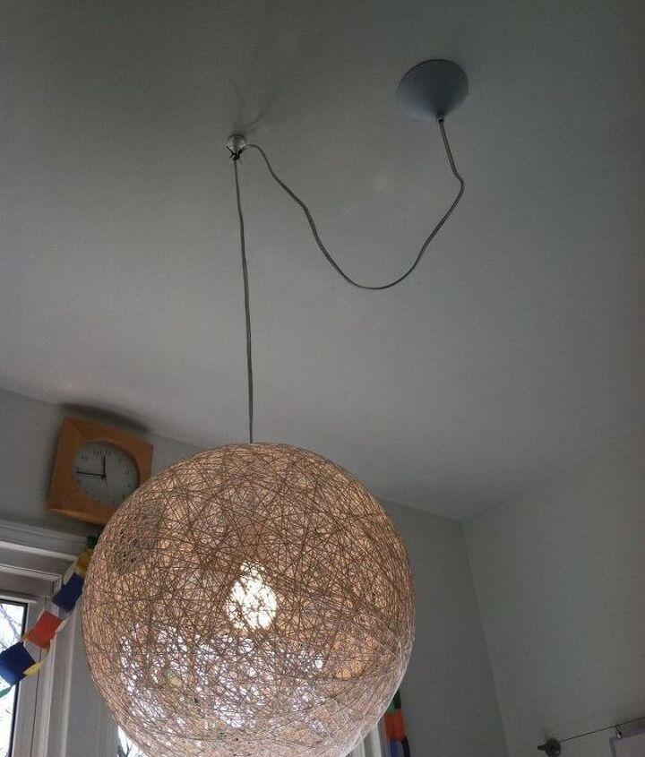 q need advice on how to drape this light, electrical, home decor, lighting, wall decor