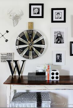 bicycle wheel calendar, chalkboard paint, crafts, repurposing upcycling