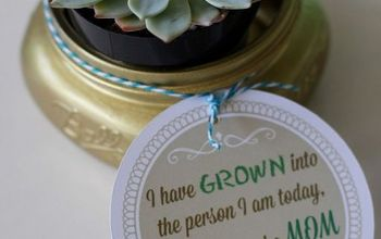 Mother's Day Mason Jar Gifts & Free Printables X 2 !!