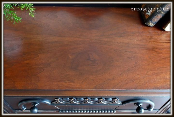 from barn to beautiful antique buffet in black, painted furniture