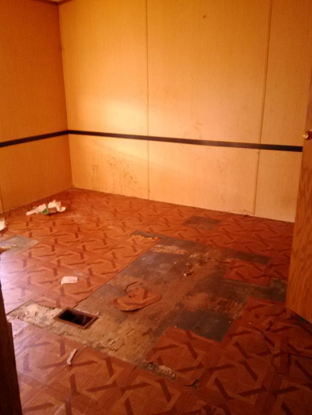 brown paper flooring a facelift for my bedroom floor, bedroom ideas, diy, flooring, tile flooring