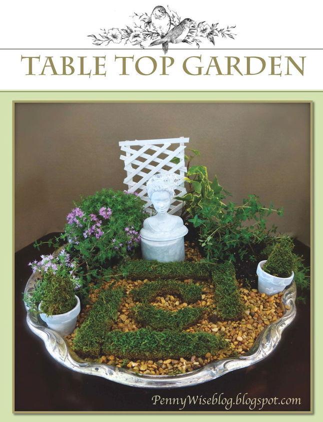 tabletop formal fairy garden, crafts, gardening