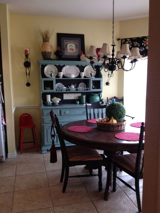 my new and up dated kitchen dining area, living room ideas, painting, reupholster, window treatments, My eating area before