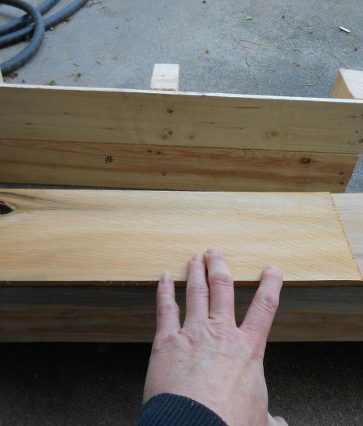Attaching wood to bottom