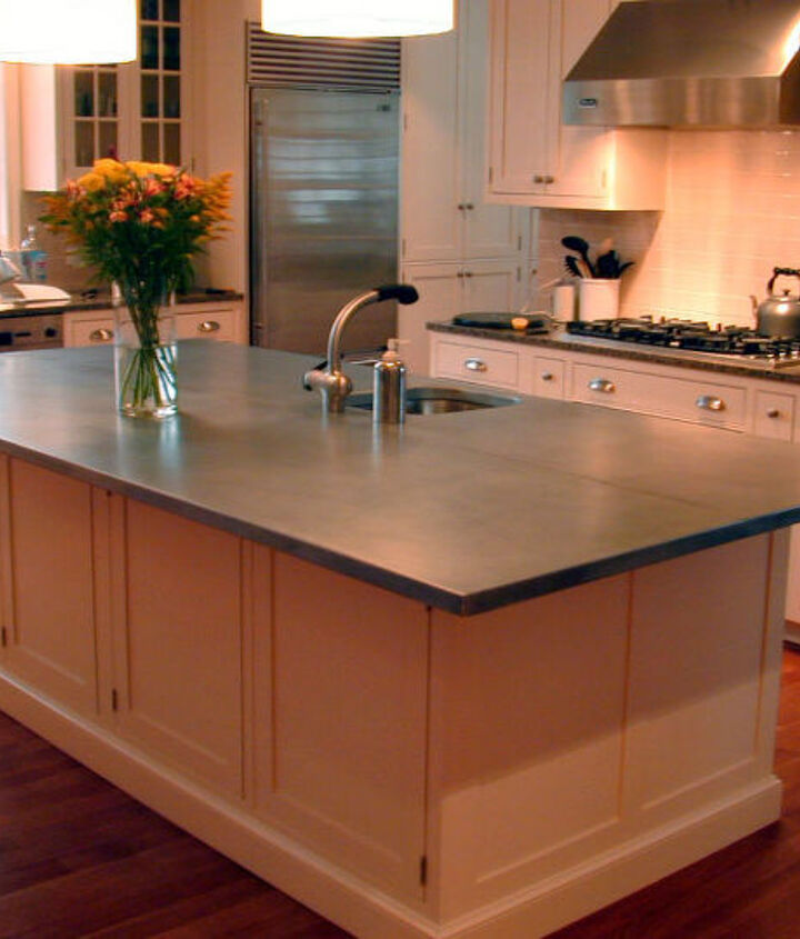 q another example of a zinc countertop for the kitchen, countertops, home decor, kitchen design, kitchen island