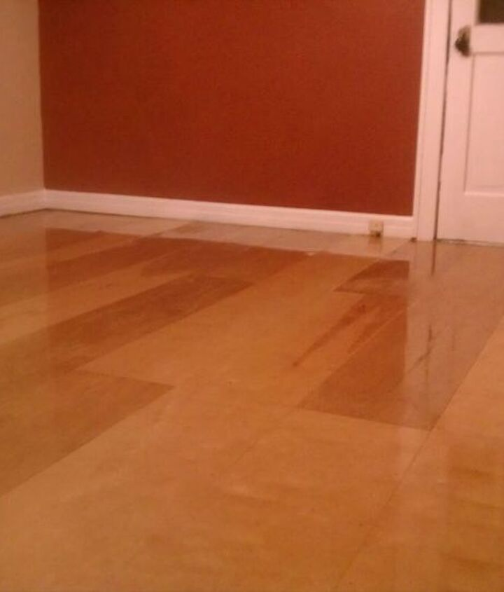 Here's a shot of the completed bedroom floor