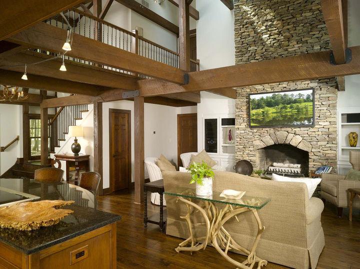 home has lodge feel, flooring, hardwood floors, home decor, living room ideas