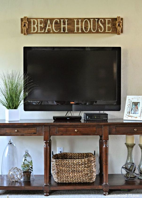 pottery barn inspired beach sign, crafts, outdoor living