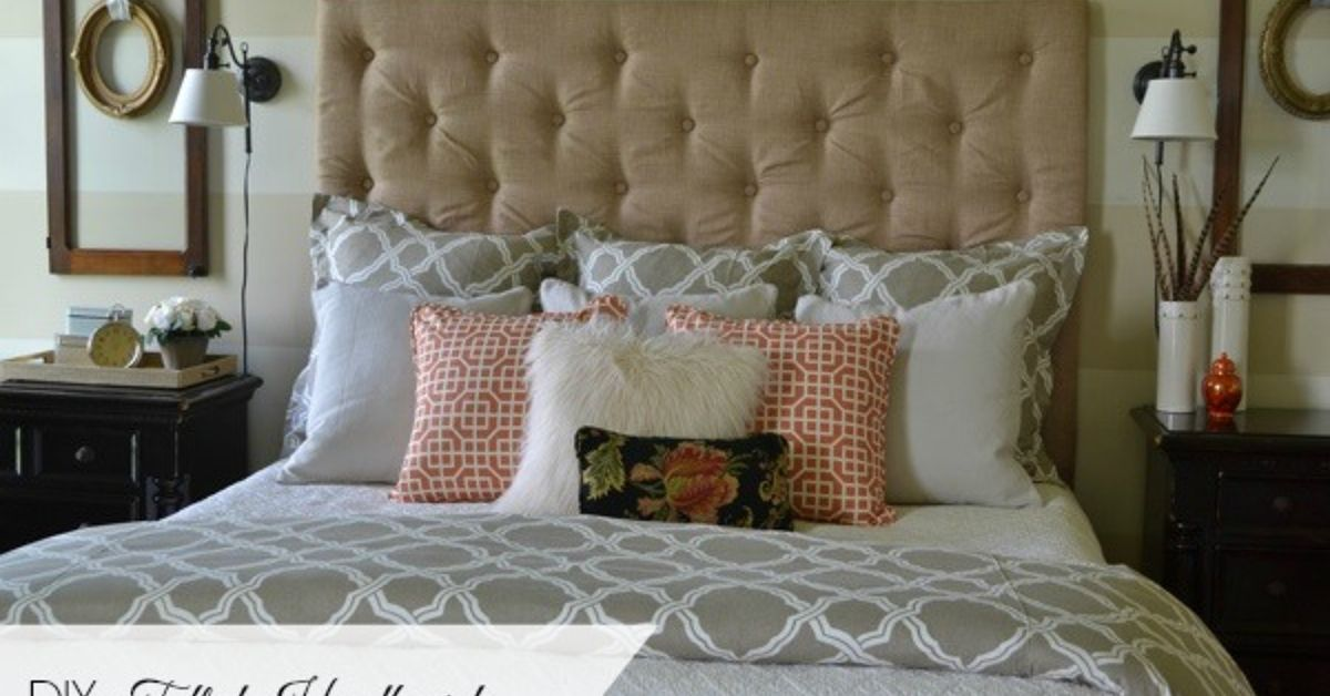 how to make a diy tufted headboard for under 150 hometalk. Black Bedroom Furniture Sets. Home Design Ideas