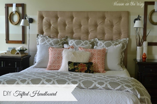 how to make a diy tufted headboard for under 150, bedroom ideas, diy, home decor, how to, reupholster, woodworking projects