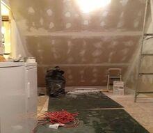 slanted wall built in s with hidden storage, closet, diy, shelving ideas, storage ideas