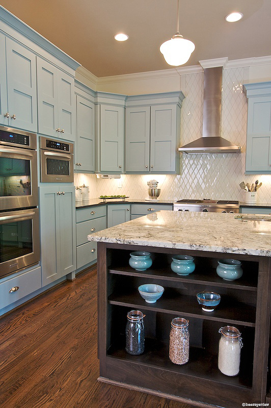 living with color could you would you why not, home decor, painting, playful yet soothing sky blue cabinetry and accessories Sherwin Williams Interesting Aqua