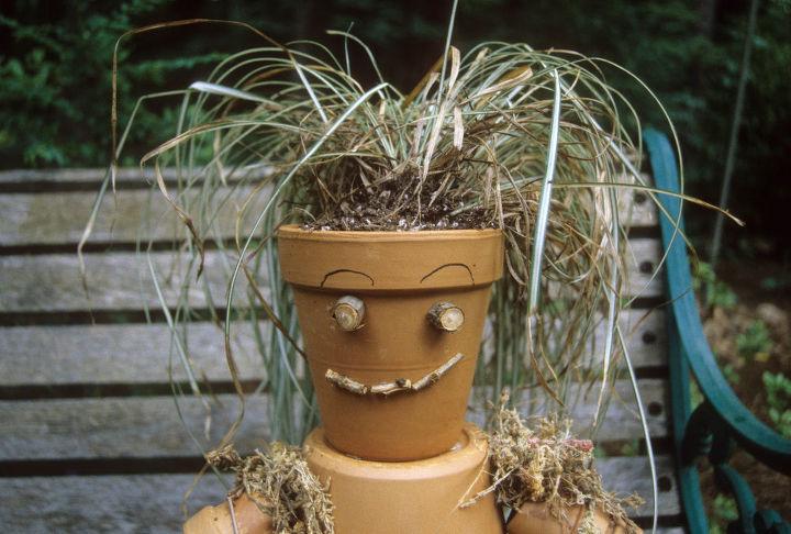 make a clay pot garden buddy, crafts, flowers, gardening