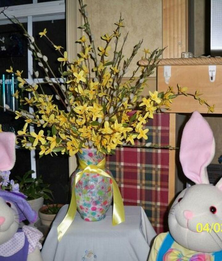 Oh Look!! I think the Easter Bunny is coming to our house.  Meet Peter & Petunia Rabbit   ; ~ )