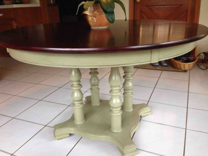 refinishing a dining room table, painted furniture