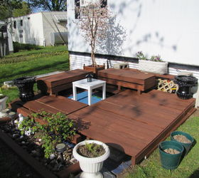 Small Mostly Freebie Backyard Deck, Decks, Outdoor Living, Woodworking  Projects ...