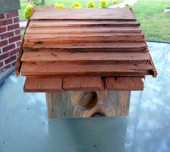 birdhouses by alan, gardening, home decor, This Beach Home was built for a friend She likes birdhouses but doesn t want the birds to live in them thus the blocked doorway She gets frustrated cleaning up after birds because my goofy friend hangs the birdhouses on her porch