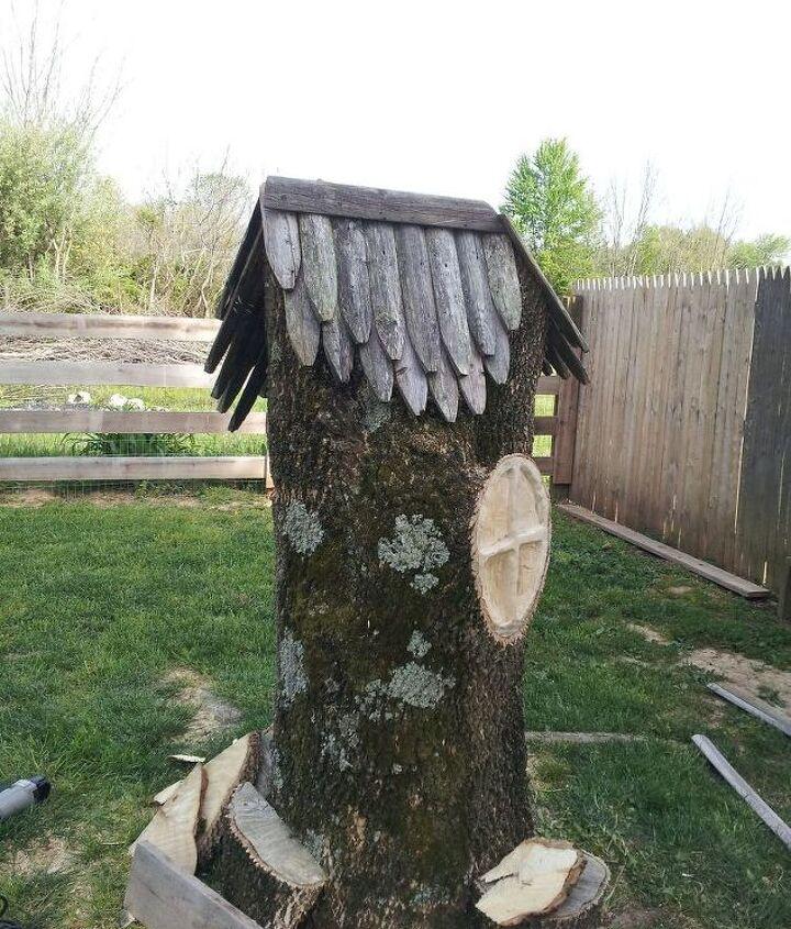 repurposing a tree stump, gardening, landscape, repurposing upcycling