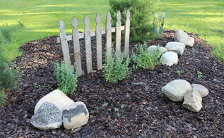 flower bed picket fence recue at the small house, fences, flowers, gardening, landscape, outdoor living