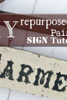 diy repurposed painted sign tutorial, crafts, repurposing upcycling