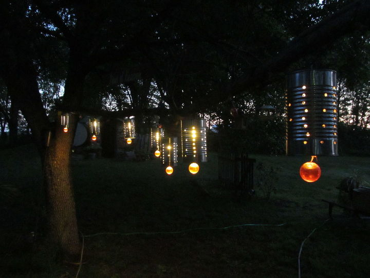 party lights, crafts, lighting, outdoor living, repurposing upcycling