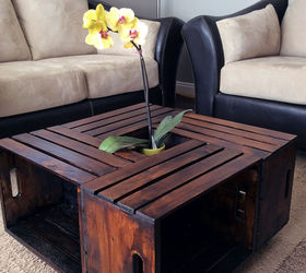 Attractive Diy Crate Coffee Table Part - 9: Diy Crate Coffee Table, Painted Furniture