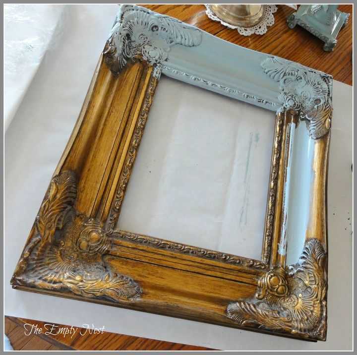 more chalk paint magic, crafts, similar frame before