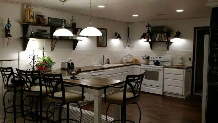 farmhouse inspired kitchen, kitchen backsplash, kitchen design