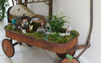 Fairy Garden (Concrete Leaf Roof)