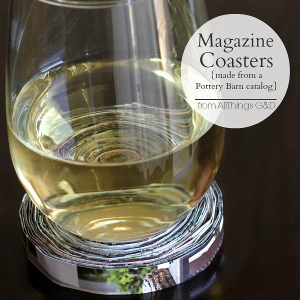 Magazine Coasters Made From A Pottery Barn Catalog