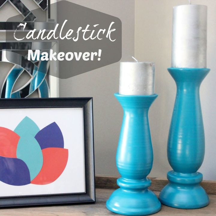 spray painted candles candlesticks, painting, repurposing upcycling