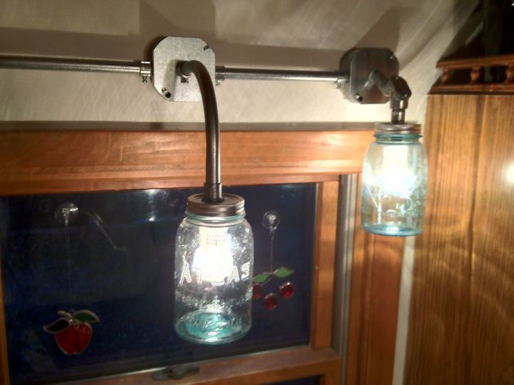 industrial mason jar light, crafts, lighting, mason jars, repurposing upcycling, Mason Jar Light Fixture
