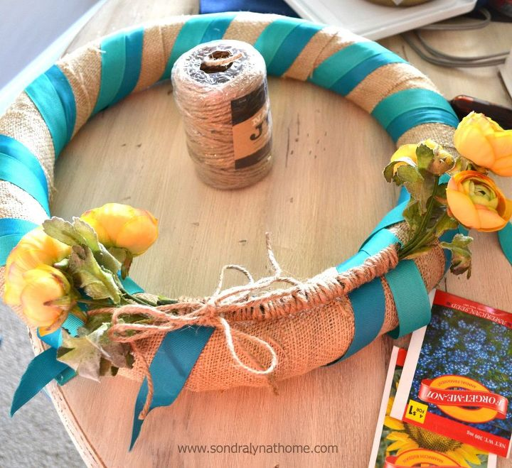 seed packet summer wreath tutorial, crafts, wreaths