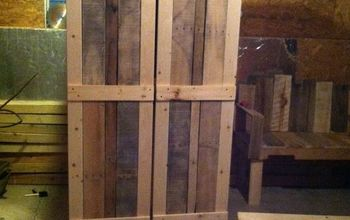 Scrap Book Cabinet Made Pallets and Other Wood
