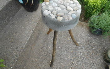 cheap and easy rustic bucket stool, concrete masonry, gardening, outdoor living, repurposing upcycling, My rustic bucket stool